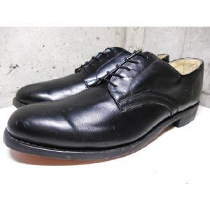 Deadstock 70's ポーランド製 U.S. NAVY サービスシューズ レザー ドレスシューズ 黒 US 11革靴  古着 mellow|feeling-mellow