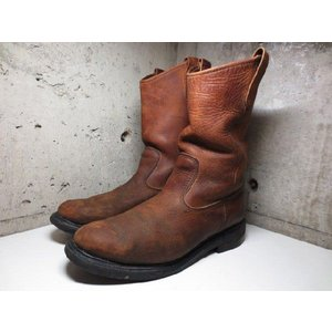 RED WING レッドウイング PECOS ペコスブーツ 茶 Made in U.S.A US 10.5 D|feeling-mellow