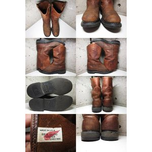 RED WING レッドウイング PECOS ペコスブーツ 茶 Made in U.S.A US 10.5 D|feeling-mellow|02