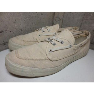 SPERRY TOP SIDER/トップサイダー キャンバス デッキシューズ 生成り Made in U.S.A  サイズ:US 12 M|feeling-mellow