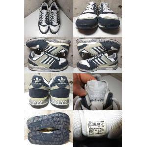 adidas ZXZ ADV/アディダス ZXZ ADV ヌバック×レザー スニーカー 紺×白×グレー|feeling-mellow|02