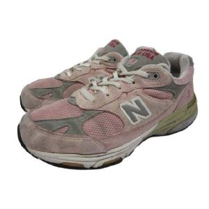 new balance/ニューバランス 993 スエード×メッシュ スニーカー ピンク×グレー Made in U.S.A|feeling-mellow