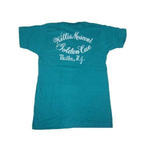 Deadstock プリント入り ポケット付き Tシャツ ターコイズ系 Made in U.S.A サイズ:M|feeling-mellow