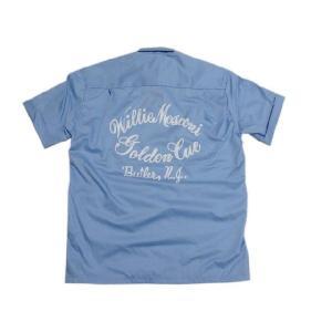 70's Deadstock Conte Vendicci ボックス型 プリント・刺繍入り 半袖ループシャツ 水色|feeling-mellow