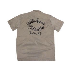 70's Deadstock Conte Vendicci ボックス型 プリント・刺繍入り 半袖ループシャツ グレー×オレンジ|feeling-mellow