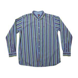 TOMMY HILFIGER トミー ヒルフィガー マチ付き マルチストライプ柄 長袖シャツ|feeling-mellow