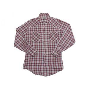 Levi's/リーバイス ホワイトタブ 長袖ウエスタン フランネルシャツ スナップボタン 赤×ライトグレー×青×黄 【サイズ:M】|feeling-mellow