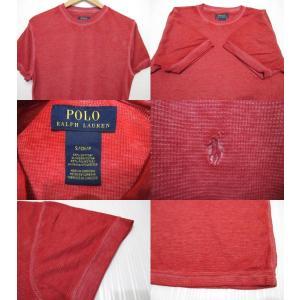 POLO RALPH LAUREN/ポロ ラルフローレン ワンポイント刺繍 サーマル 半袖 Tシャツ レッド|feeling-mellow|03