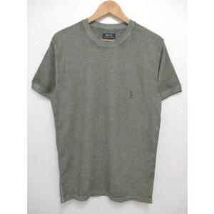 POLO RALPH LAUREN/ポロ ラルフローレン ワンポイント刺繍 サーマル 半袖 Tシャツ セージグリーン|feeling-mellow