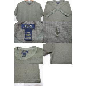 POLO RALPH LAUREN/ポロ ラルフローレン ワンポイント刺繍 サーマル 半袖 Tシャツ セージグリーン|feeling-mellow|03