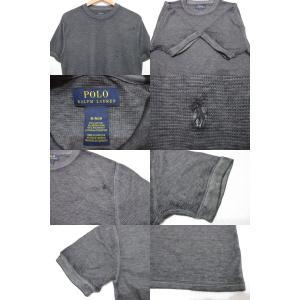 POLO RALPH LAUREN/ポロ ラルフローレン ワンポイント刺繍 サーマル 半袖 Tシャツ ブラック feeling-mellow 03