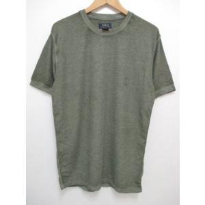 POLO RALPH LAUREN/ポロ ラルフローレン ワンポイント刺繍 サーマル 半袖 Tシャツ セージグリーン feeling-mellow