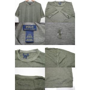 POLO RALPH LAUREN/ポロ ラルフローレン ワンポイント刺繍 サーマル 半袖 Tシャツ セージグリーン feeling-mellow 03