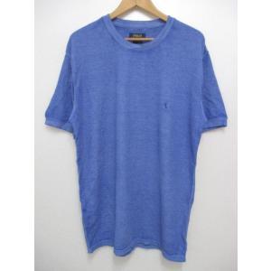 POLO RALPH LAUREN/ポロ ラルフローレン ワンポイント刺繍 サーマル 半袖 Tシャツ ブルー|feeling-mellow