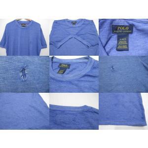 POLO RALPH LAUREN/ポロ ラルフローレン ワンポイント刺繍 サーマル 半袖 Tシャツ ブルー|feeling-mellow|03