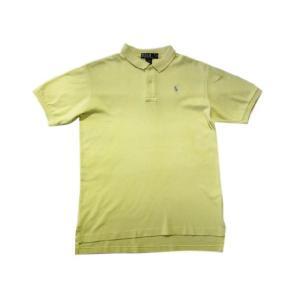 中古 Polo by RalphLauren/ラルフローレン 半袖 コットン ポロシャツ 黄 Made in U.S.ABoy's XLサイズ 古着 mellow|feeling-mellow