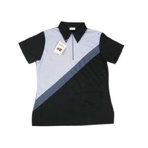 Deadstock King Louie/キングルイ ボウリング ポロシャツ 黒×グレー Made in U.S.Aサイズ:34TALON 古着 mellow|feeling-mellow