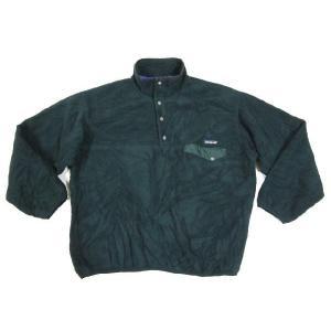中古patagonia /パタゴニア スナップT プルオーバー  フリースジャケット 緑 サイズ:LOUTDOOR 古着 mellow|feeling-mellow
