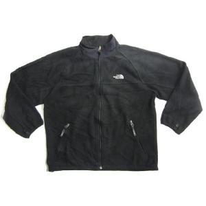 中古THE NORTH FACE/ノースフェイス ジップアップ ラグランフリースジャケット ブラック サイズ:Boy's LOUTDOOR/アウトドア 古着 m|feeling-mellow