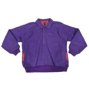 中古patagonia /パタゴニア プルオーバー  フリースジャケット 紫 Made in U.S.A サイズ:SOUTDOOR 古着 mellow|feeling-mellow