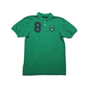 中古 TOMMY HILFIGER/トミー ヒルフィガー 半袖 鹿の子 ポロシャツ 緑 サイズ:Boy's XL 古着 mellow|feeling-mellow