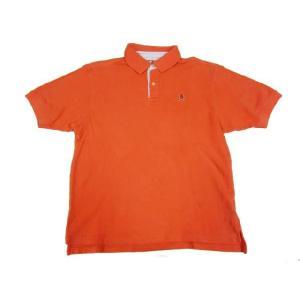 中古 TOMMY HILFIGER/トミー ヒルフィガー 半袖 鹿の子 ポロシャツ ワンポイント オレンジ サイズ:Boy's L 古着 mellow|feeling-mellow