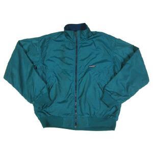 patagonia/パタゴニア ナイロン×フリース シェルジャケット 緑×青 Made in U.S.A 【サイズ:L】【古着屋mellow】|feeling-mellow