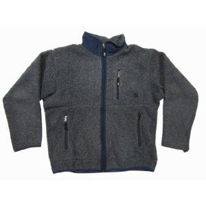 THE NORTH FACE/ノースフェイス ジップアップ パイルフリース ジャケット グレー×紺 Made in JAPAN  LL|feeling-mellow