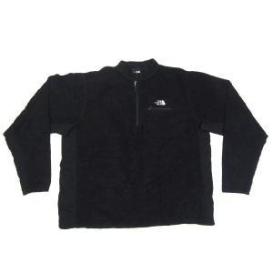 中古 THE NORTH FACE/ノースフェイス ハーフジップ ストレッチ切り替え プルオーバーフリースジャケット 黒 Made in U.S.A サイズ:XL|feeling-mellow