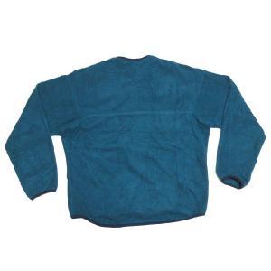patagonia CAPILENE/パタゴニア ハーフジップ ヘンリーネックタイプ プルオーバー  フリースジャケット 青緑系 Made in U.S.A  サイズ:XL feeling-mellow 02