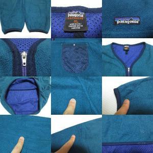 patagonia CAPILENE/パタゴニア ハーフジップ ヘンリーネックタイプ プルオーバー  フリースジャケット 青緑系 Made in U.S.A  サイズ:XL feeling-mellow 03