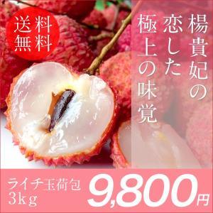 【数量限定】【送料無料】台湾産玉荷包ライチ3kg