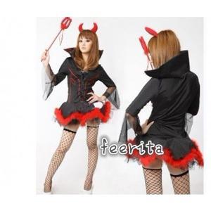 ハロウィン 仮装 ハロウィン 魔女 ハロウィン コスプレ ハロウィン 衣装 用 ハロウィン 仮装 コスチューム セット|feerita