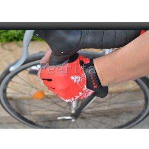サイクルグローブ 夏用 指切り 半指 サイクル手袋 男女兼用 自転車用手袋 ロードバイクグローブ|feerita