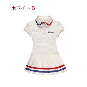 ジュニア ゴルフウェア テニスワンピース プリーツスカート ゴルフスカート  スカート おしゃれ キュロットスカート|feerita