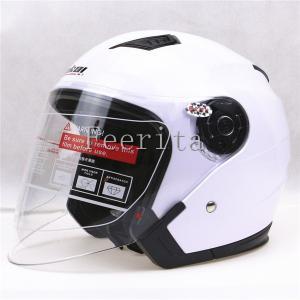 ジェットヘルメット ヘルメット ジェット シンプル バイクヘルメット 半帽 オープンフェイス ハーフヘルメット 男女兼用 オートバイヘルメット シールド付|feerita
