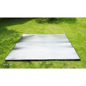アルミレジャーマット ポイント2倍 アウトドア用品 ピクニック キャンピング テントフロアマット クーポン最大20%off 防湿パッド 折り畳み 収納袋付き|feerita