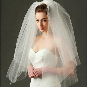 ウェディングベール花嫁・ベールヴェールウェディング・結婚式・ブライダル・2次会・パーティ花嫁様ウェディングドレス小物花嫁様ウェディング用ベール feerita