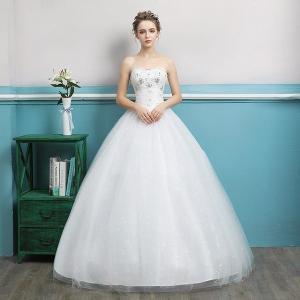花嫁ドレスウェディングドレス二次会ウエディングドレスロング二次会ドレスベアトップロングドレス花嫁ドレスビスチェイブニングドレス結婚式 feerita