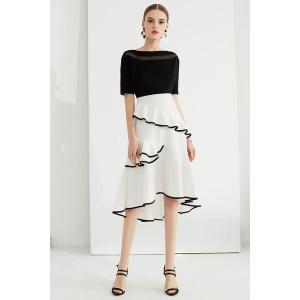 欧米ブランド設計大大人ドレス女らしいワンピースディアートワンピースミディアム丈ワンピースフォーマル