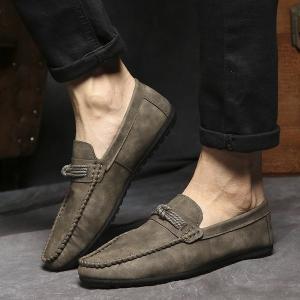 ローファーメンズスエード靴スリッポンシューズカジュアルイギリス風紳士靴|feerita