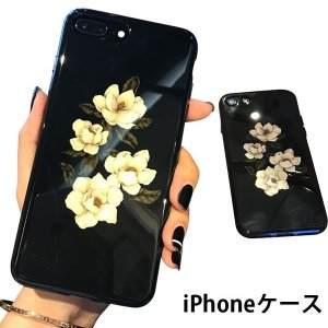 iPhoneケースiPhoneカバー花柄ケースソフトケーススマホケーススマホカバー携帯ケースフラワー多機種対応花柄プリント|feerita