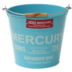 Mercury マーキュリー ブリキバケツ レギュラー ブルー ブリキバケツ