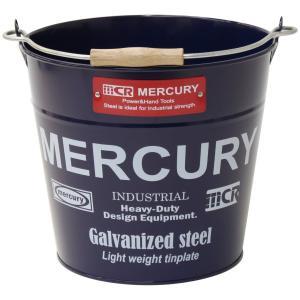 Mercury マーキュリー ブリキバケツ レギュラー ネイビー ブリキバケツ