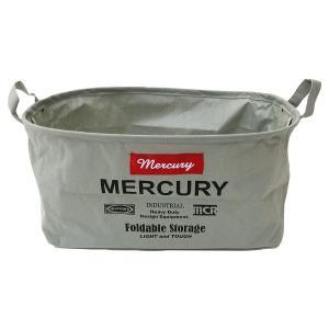 Mercury マーキュリー キャンバスオーバルバケツ M  グレイ ファブリック収納
