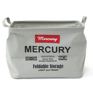 Mercury マーキュリー キャンバス レクタングルボックス M グレー ファブリック収納