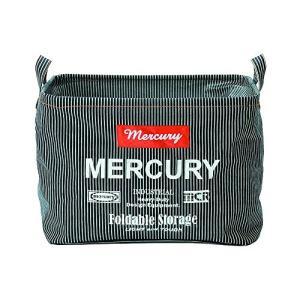 Mercury マーキュリー ヒッコリー レクタングルバケツ M  ファブリック収納