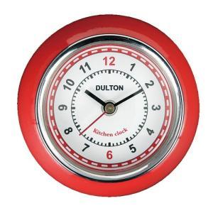 KITCHEN CLOCK キッチンクロック 時計 マグネット RED