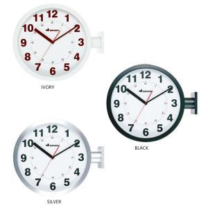 DOUBLE FACES WALL CLOCK ダブルフェイス ウォールクロック 両面時計 壁時計 ...