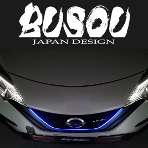BUSOU ( ブソウ ) 正規販売店 E12 ノート e-power LED グリルライン ブルー felice-inc-shop